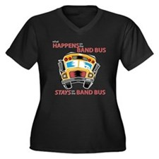 What Happens on the Band Bus Women's Plus Size V-