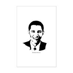 Barack Obama Face Mini Poster Print
