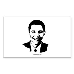 Barack Obama Face Rectangle Sticker