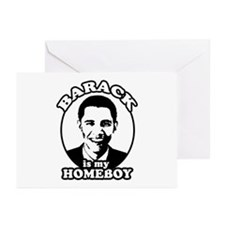 Barack Obama is my homeboy Greeting Cards (Pk of 2