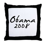 Obama Autograph Throw Pillow