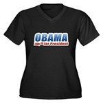 Obama for President Women's Plus Size V-Neck Dark