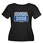 Obama 2008 Women's Plus Size Scoop Neck Dark T-Shi