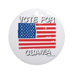 Vote for Obama Ornament (Round)