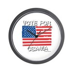 Vote for Obama Wall Clock