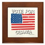 Vote for Obama Framed Tile