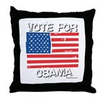 Vote for Obama Throw Pillow