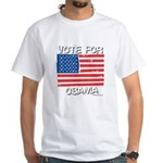 Vote for Obama White T-Shirt