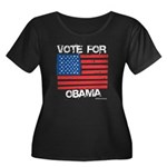 Vote for Obama Women's Plus Size Scoop Neck Dark T