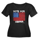 Vote for Obama Women's Plus Size Scoop Neck Dark T