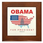 Obama for President Framed Tile