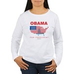 Obama for President Women's Long Sleeve T-Shirt