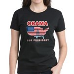 Obama for President Women's Dark T-Shirt