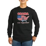 Obama for President Long Sleeve Dark T-Shirt