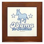 Obama for President Framed Tile