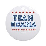 Team Obama Ornament (Round)