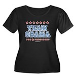 Team Obama Women's Plus Size Scoop Neck Dark T-Shi