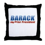 Barack for President Throw Pillow