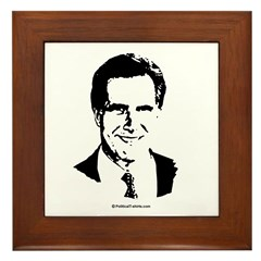 Mitt Romney Face Framed Tile