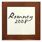 Mitt Romney Autograph Framed Tile