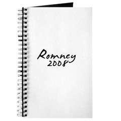 Mitt Romney Autograph Journal