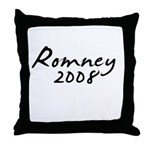 Mitt Romney Autograph Throw Pillow