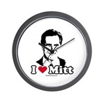 I Love Mitt Wall Clock