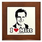 I Love Mitt Framed Tile