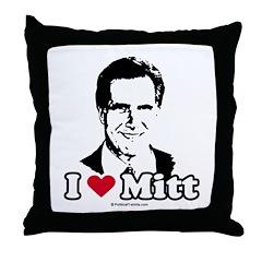 I Love Mitt Throw Pillow