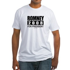 Romney 2008: For President Fitted T-Shirt