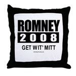 Romney 2008: Get wit' Mitt Throw Pillow