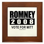 Romney 2008: Vote for Mitt Framed Tile