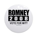 Romney 2008: Vote for Mitt Ornament (Round)