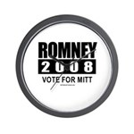 Romney 2008: Vote for Mitt Wall Clock