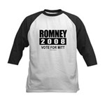 Romney 2008: Vote for Mitt Kids Baseball Jersey