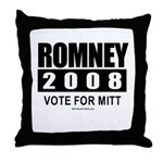 Romney 2008: Vote for Mitt Throw Pillow