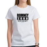 Romney 2008: Vote for Mitt Women's T-Shirt