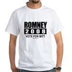 Romney 2008: Vote for Mitt White T-Shirt