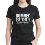 Romney 2008: Vote for Mitt Women's Dark T-Shirt