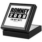 Romney 2008: I'm wit Mitt Keepsake Box
