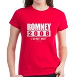 Romney 2008: I'm wit Mitt Women's Dark T-Shirt
