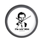 ROMNEY 2008: 'm wit' Mitt Wall Clock