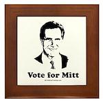 ROMNEY 2008: Vote for Mitt Framed Tile