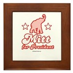 Mitt for President Framed Tile