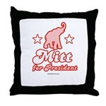 Mitt for President Throw Pillow