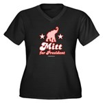 Mitt for President Women's Plus Size V-Neck Dark T