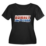 Romney 2008 Women's Plus Size Scoop Neck Dark T-Sh