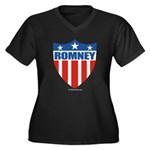 Mitt Romney Women's Plus Size V-Neck Dark T-Shirt