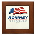 Romney for President Framed Tile