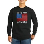 Vote for Romney Long Sleeve Dark T-Shirt